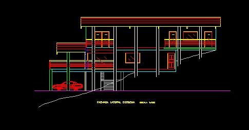فایل اتوکد نما معماری ساختمان ویلایی کامل قابل ویرایش