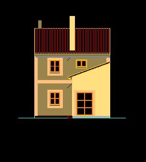 فایل اتوکد نما ساختمان ویلایی 2 طبقه کامل قابل ویرایش